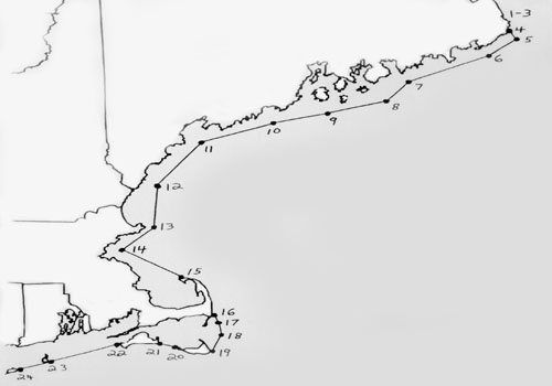 Us Coast Guard Boundary Line Map USCG Approved Captains License Courses    New England Maritime